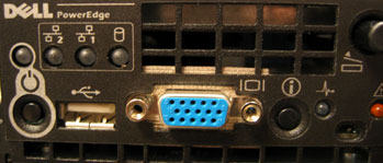 Puertos del servidor en rack PowerEdge